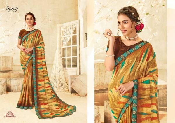 Saroj Victoria Georgette Daily Wear Sarees Collection
