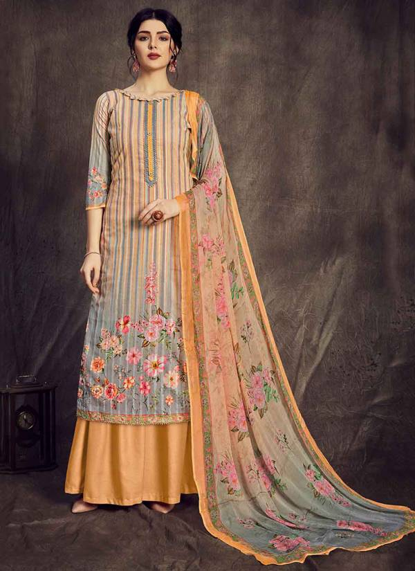 Alok Suit Golden Weave Series 631-001 - 631-008 Pure Superior Cotton Zari With Digital Printed Daily Wear Palazzo Suits Collection