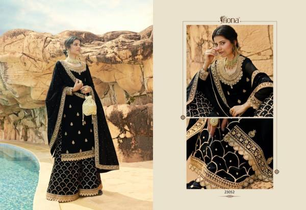 Fiona Shehnaz Georgette With Heavy Sequence Work Eid Special Palazzo Suits Collection