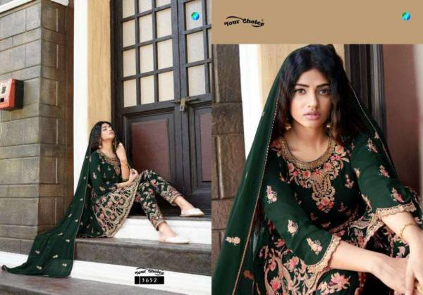 Your Choice Raziya Blooming Georgette Heavy Embroidery Work Wedding Wear Designer Suit collection