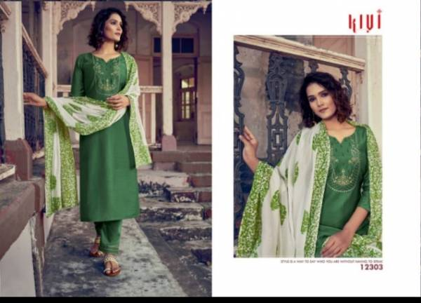 Kivi Purika Series 12301-12304 Lining Silk With Embroidery & Sequins Work New Fancy Casual Wear Straight Readymade Suits Collection