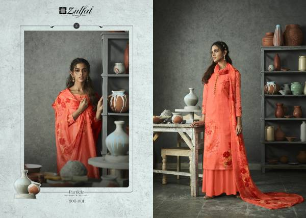 Zulfat Designer Suits Gulmohar Series 308-001 - 308-010 Pure Cotton Digital Printed Casual Wear Fancy Palazzo Suits Collection