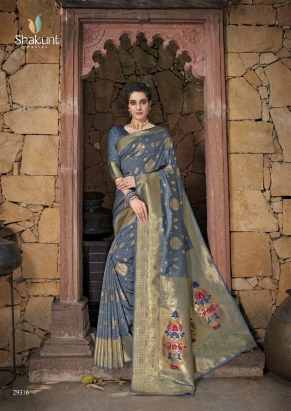 Shakunt Ronika Jacquard Silk With Jacquard Work Stylish Designer Sarees Collection
