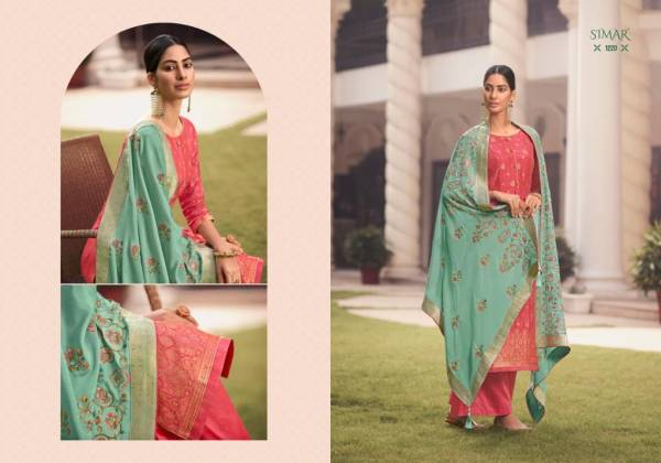 Glossy Fashion Nihaara Viscose Dola Jacquard Traditional Palazzo Suits Collection