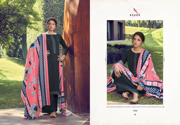Kaara Suits Makhmali Series 1001-1008 Pashmina Print With Stylish Look Embroidery Work Suits Collection