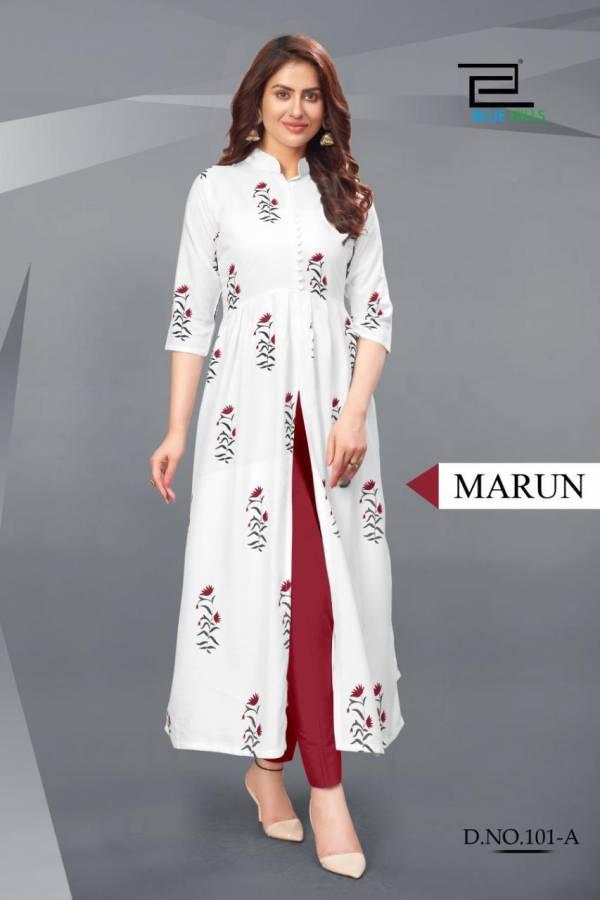 Vee Fab Calendar Vol 1 Rayon Printed Long Stylish Gown Kurti Collection