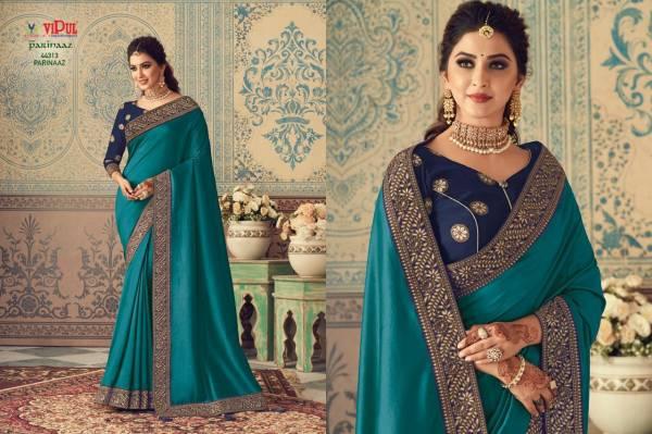 Vipul Fashion Parinaaz Series 44307-44315 Vichitra Silk Latest Designer Festival Wear Sarees Collection