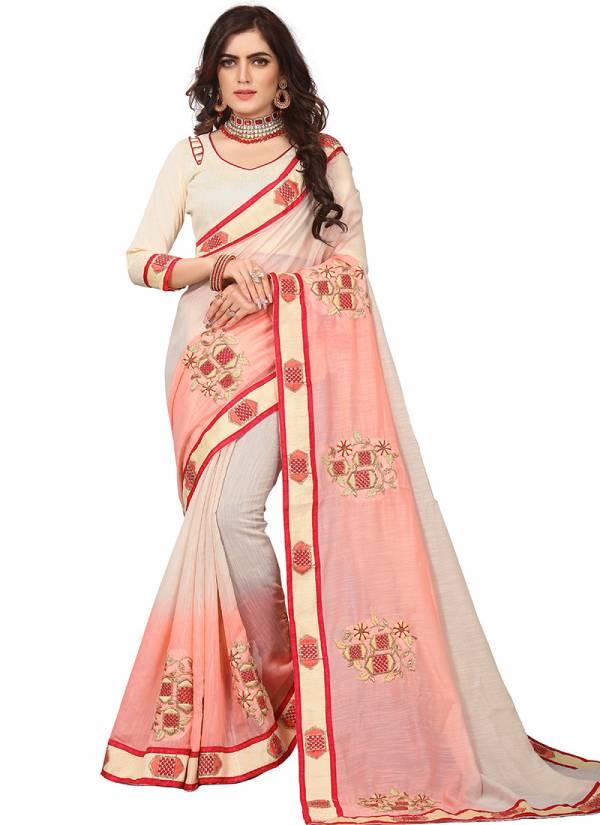 Nari Fashion Ishita Georgette Heavy Embroidery Zari Stone Work Sarees Collection
