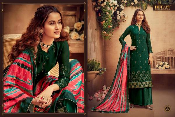 Hotlady Suraiya Series 6171-6176 Pure Viscose Chinnon Chiffon With Stylish Embroidery Work Festival Wear Salwar Suits Collection