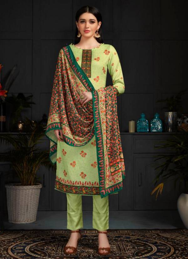 Winter Series 1041-1044 Woollen Pashmina Digital Print Stylish Look Office Wear Suits Collection