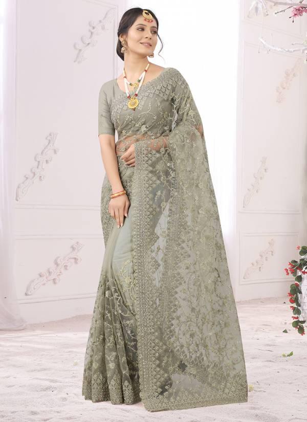 Vallabhi Chameli Georgette Geometric Print And Floral Printed Work Regular Wear Designer Sarees Collection