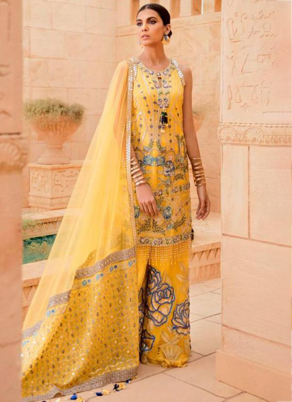 Ramsha Georgette And Net With Heavy Embroidery Work Ramzan Eid Special Pakisatni Suits Collection