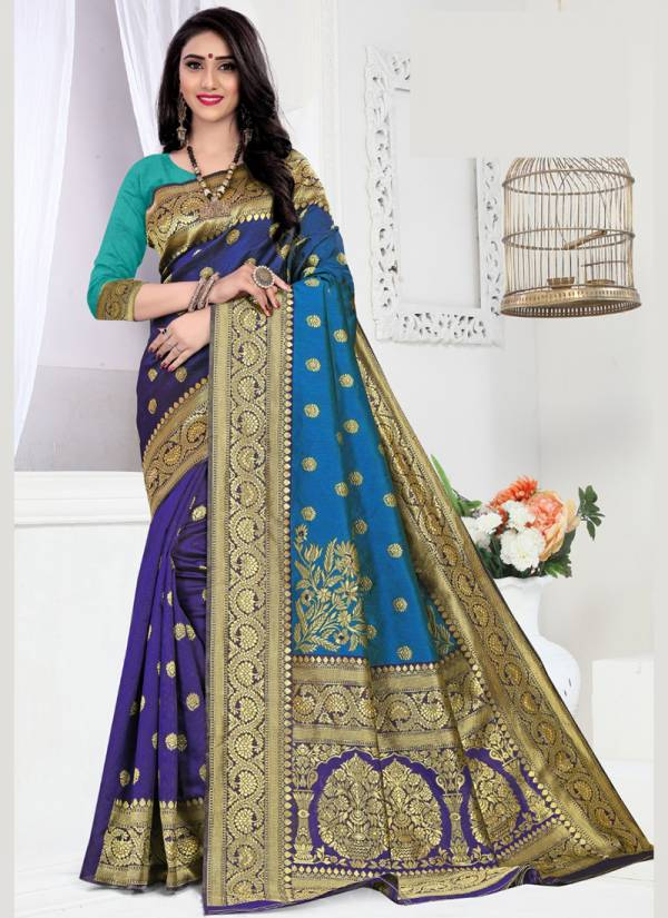 Sitka Lilly Series 8321A-8321D Handloom Cotton Silk Designer Stylish Traditional Look Sarees Collection