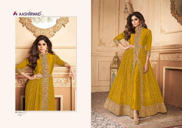 Aashirwad Anokhi Series 7152-E - 7152-I Real Georgette With Designer Embroidery Work Anarkali Suits Collection