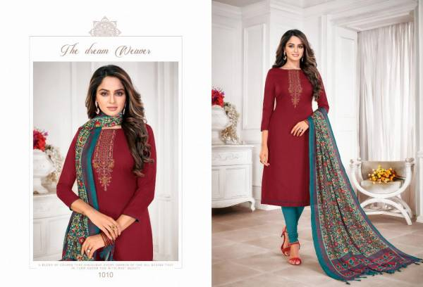 Shagun Episode Slubby Cotton With Fancy Work Daily Wear Salwar Suits Collection