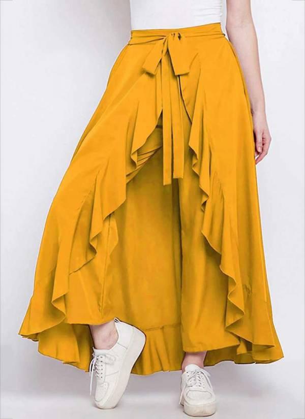 Ruhi Fashion Peahen Series 1RF-5RF Chiffon Crepe Solid Fancy Bottom Collection
