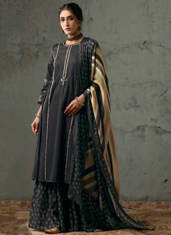Kimora Boondh Pure Finest Cotton Satin Neckline Embroidery Work Party Wear Plazzo Salwar Suit Collections