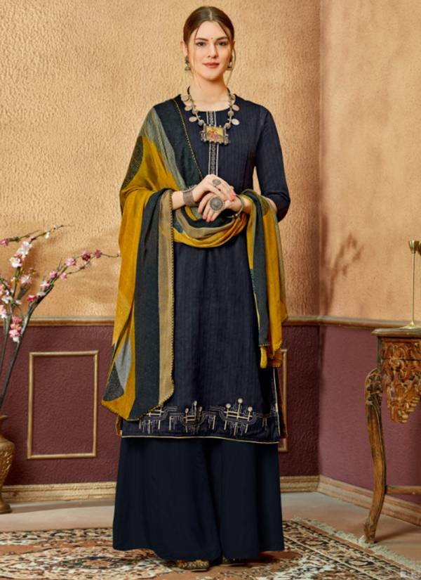 Sweety Fashion Leela Series 1001-1008 Cotton Satin With Thread Work New Designer Palazzo Suits Collection