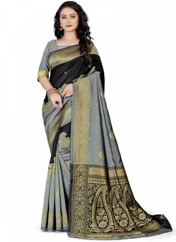 Naree Creation Kanjl Soft Lichi Silk Jacquard Work Wedding Wear Designer Saree Collections