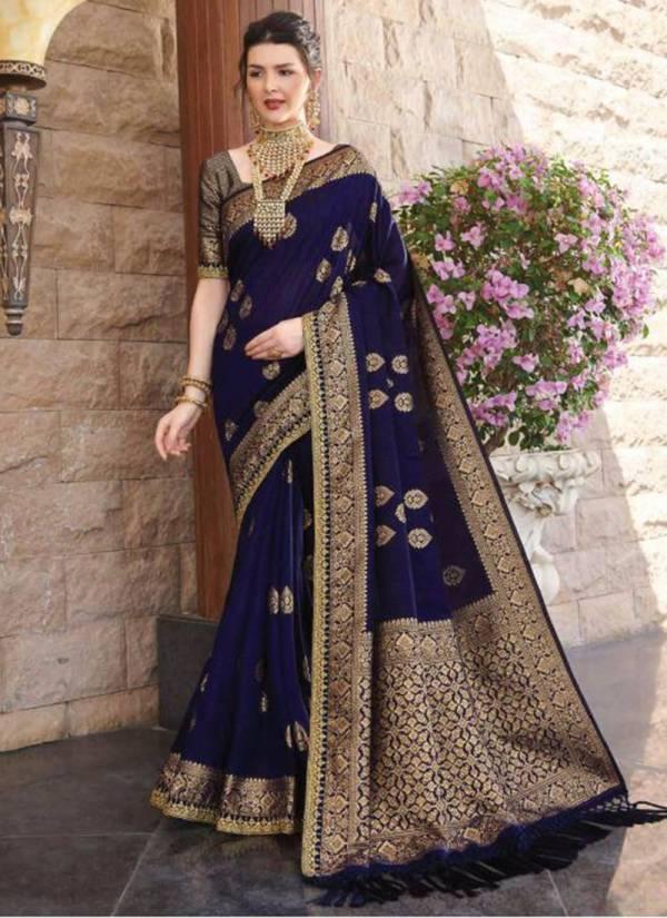 Joh Rivaaj Jewel Silk Fancy Embroidery Work With Rich Pallu Wedding Wear Designer Sarees Collection