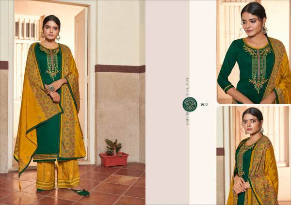 KVS Butterfly Vol 3 Series 1911-1914 Jam Silk Cotton With Embroidery Work New Designer Daily Wear Palazzo Suits Collection