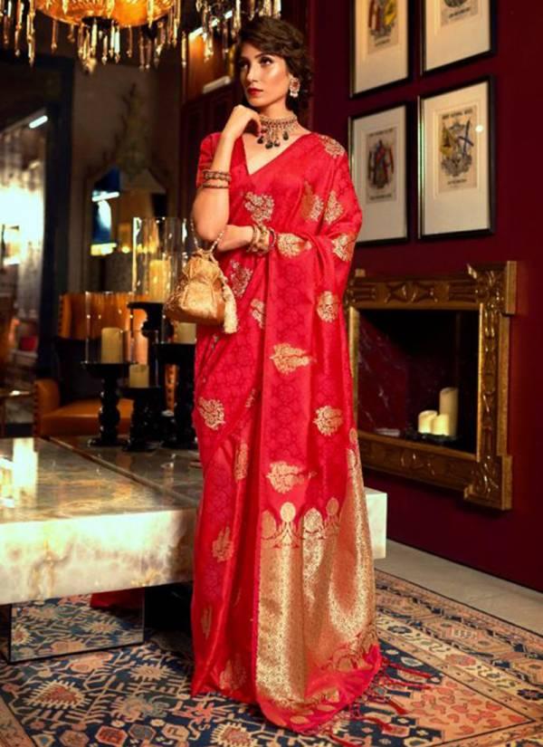Rajtex Kalaya Silk Series 142001-142006 Satin Silk Gorgeous Look New Designer Sarees Collection For Women