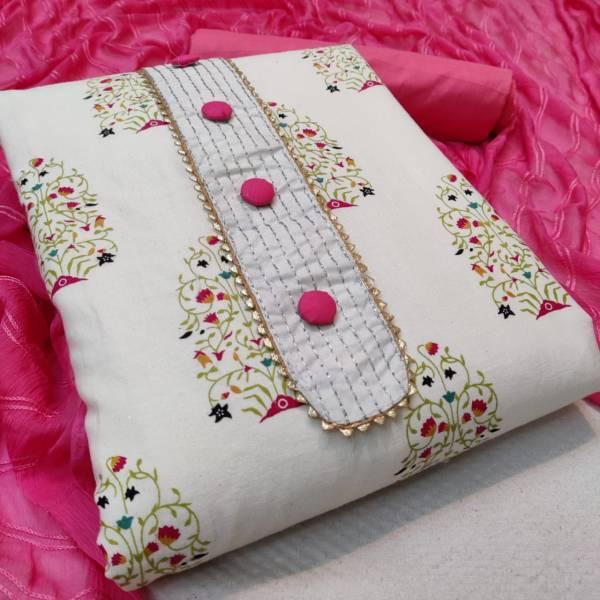 Designer Suits Series Slubc-1 - Slubc-4 Slub Cotton With Heavy Embroidery Work & Print Casual Wear Salwar Suits Collection