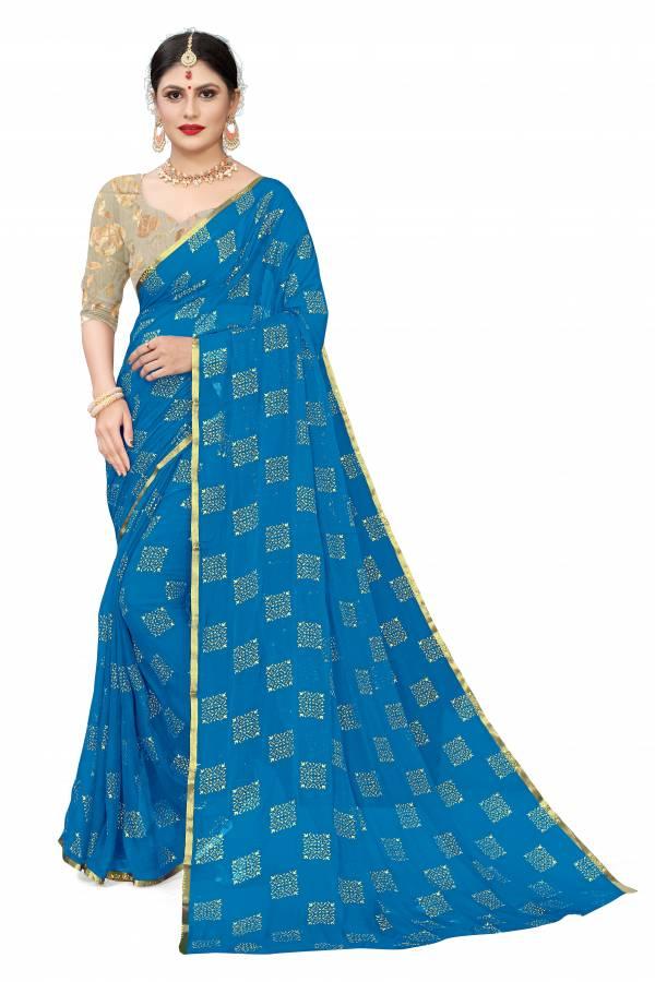 Chirag Box Series 1-9 Nazneen Chiffon Foil Printed Designer Casual wear Sarees Collection 1