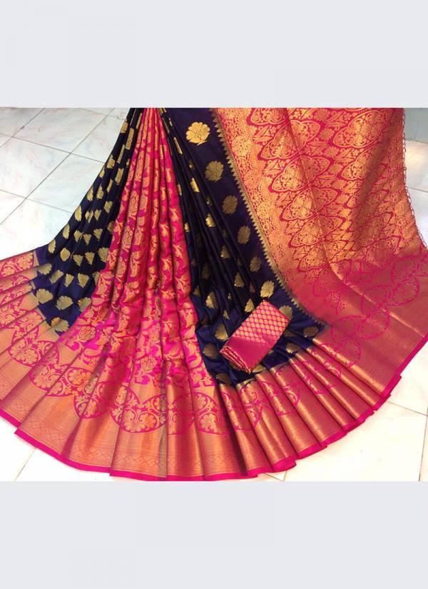 Nakshatra Fashion Studio Nylon Silk With Zari Weaving Work Reach Pallu Fancy Designer Sarees Collection
