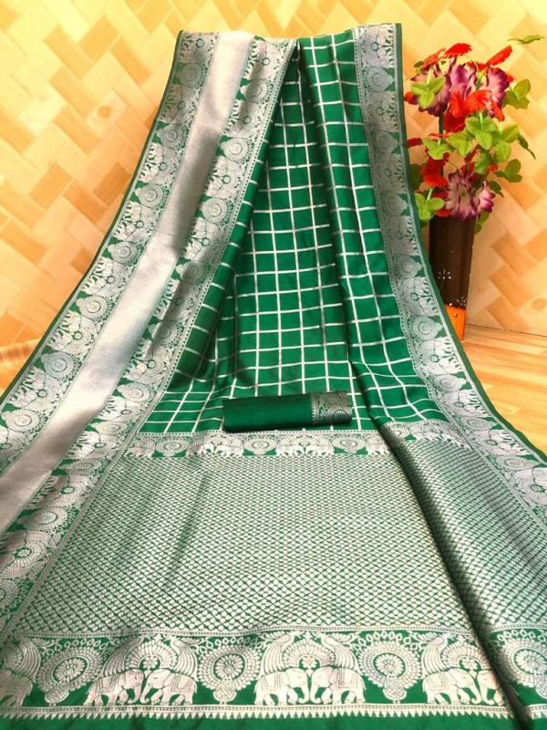 Redolence Raj Gaddhi Soft silver silk Traditional Look Printed Designer Sarees Collection