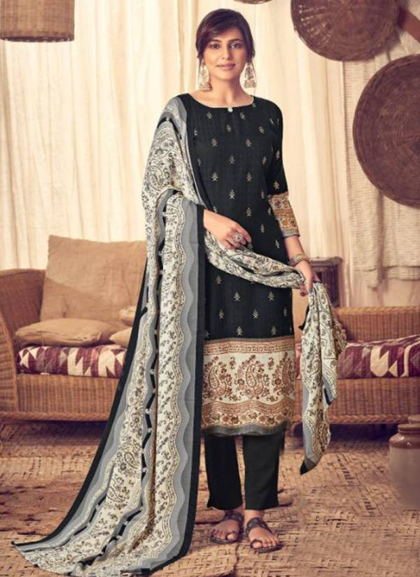Kala Fashion Tanya Vol 1 Series 9001-9008 Winter Season Special Pashmina With Foil Print Casual Wear Suits Collection