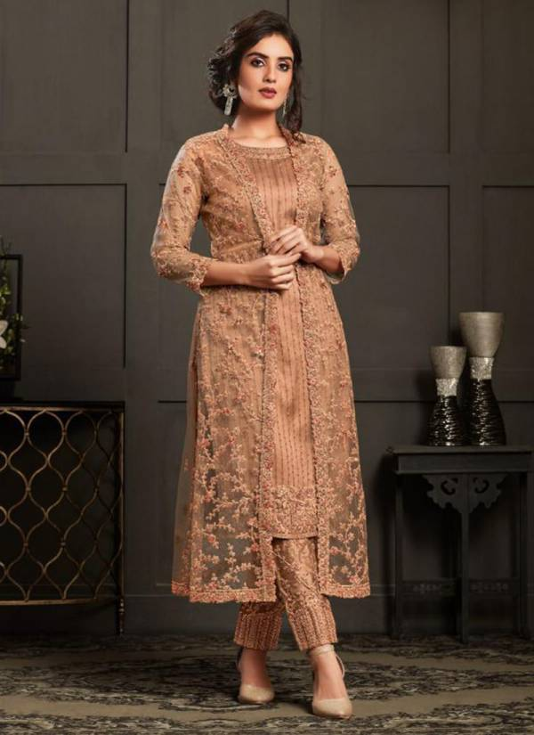 Vipul Fashion Elliza Series 4591-4598 Net With Exclusive Designer Heavy Embroidery Work Wedding Wear Salwar Suits Collection