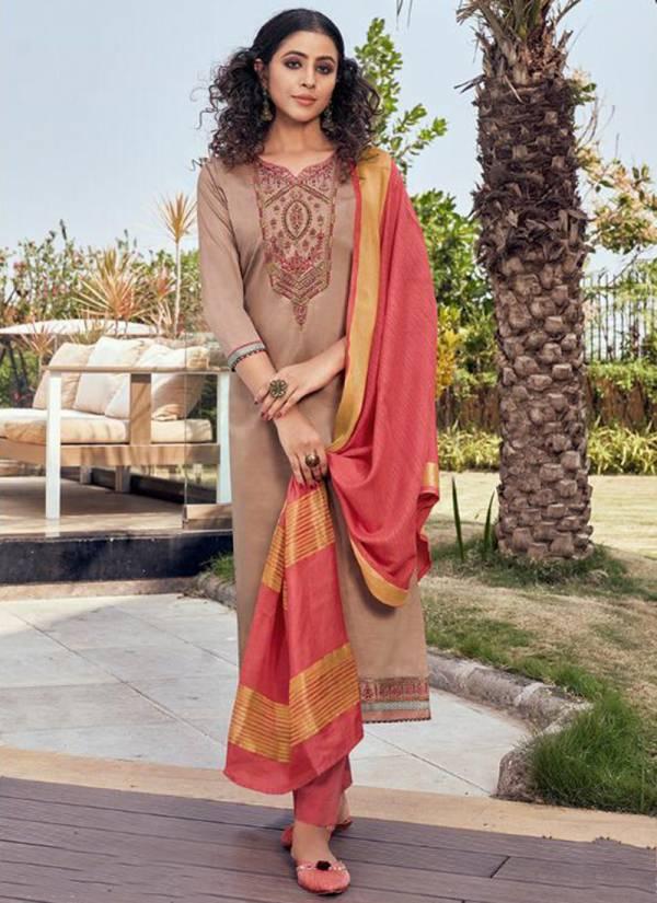Kalaroop Mahal Vol 2 Series 12240-12247 Jam Silk With Embroidery & Khatli Work New Designer Readymade Salwar Suits Collection