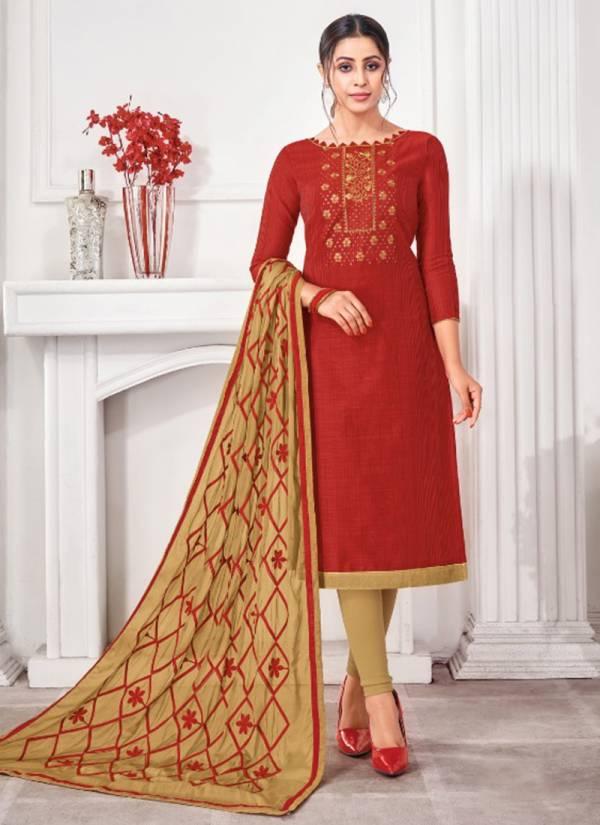 Kapil Tex Sun Light Banarasi Silk Pattern Fancy Churidar Suits Collection