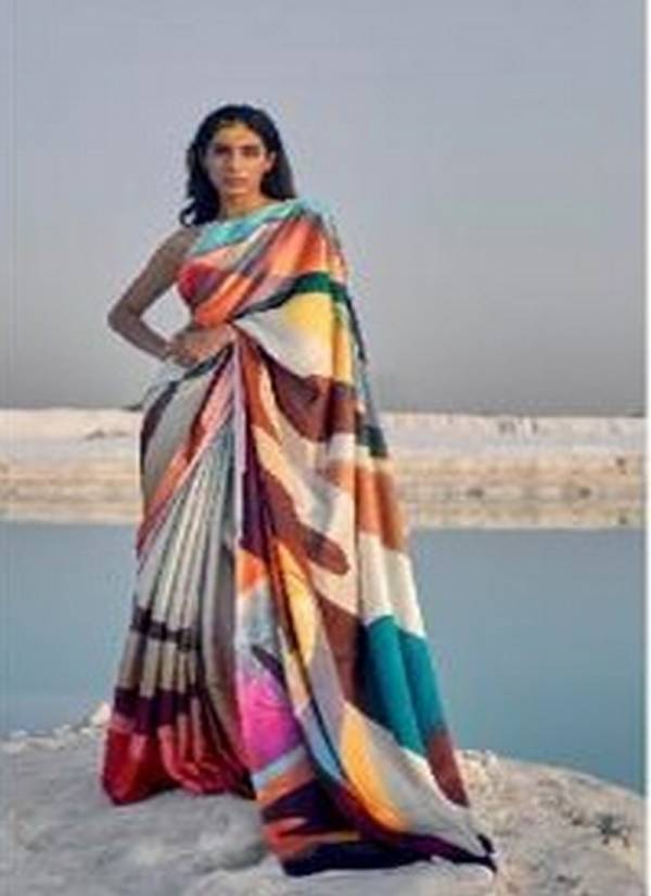 Rajtex Kasa Digital Series 159001-159009 Japan Satin Crepe With Digital Print New Designer Party Wear Beautiful Colors Sarees Collection