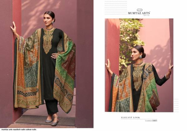 Naadirah Pure Jam Satin with Exclusive Coding Embroidery Worked Running Salwar Suits Collection