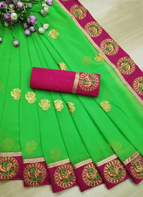 Leeps Present Mannat Series MANNAT-1-MANNAT-7 Georgette Embroidery Work Designer Casual Wear Sarees Collection