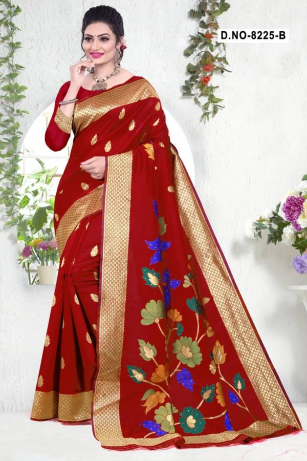 Kodas Harmony Series 8225A-8225D Diwali Special Silk Base With Stone Work Festival Wear Sarees Collection