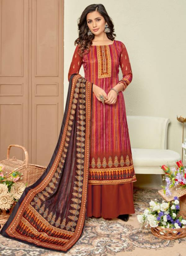 Bipson Shaneel Vol 4 Series 1182-1185 Pure Woollen Pashmina Winter Special Regular Wear Printed Palazzo Suits Collection