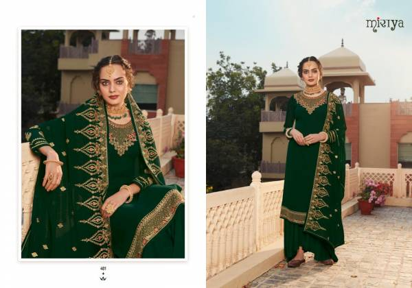 Aarav Trends Parineeta Pure Jacquard With Fancy Embroidery Work Wedding Wear Patiyala SuitS Collection