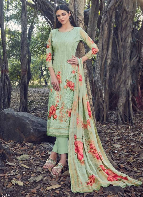 Levisha Qiyara Series 5313-5320 Georgette Sequence Work With Digital Print Daily Wear Suits Collection