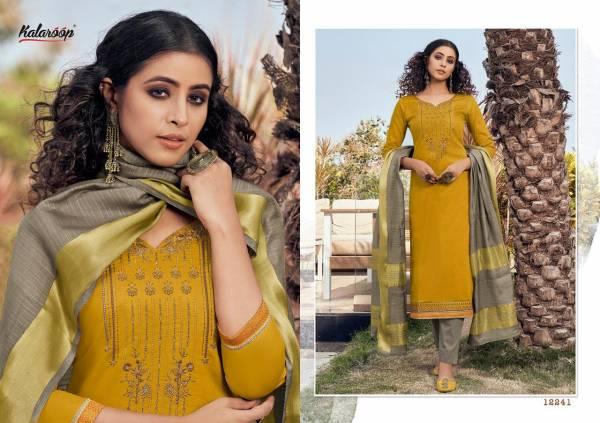 Kalaroop Mahal Vol 2 Series 12240-12247 Jam Silk With Embroidery & Khatli Work Readymade Salwar Suits Collection