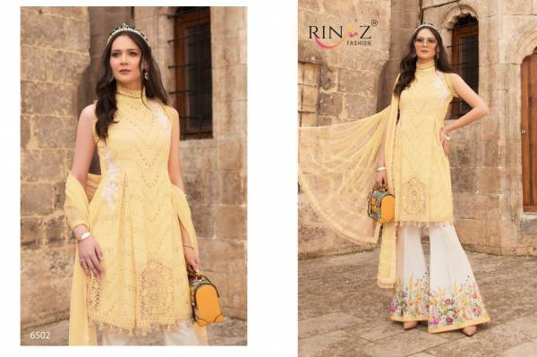 Raniz Fashion Maria-B Cambric Cotton with Heavy Embroidery Festival Wear Palazzo Suit Collection