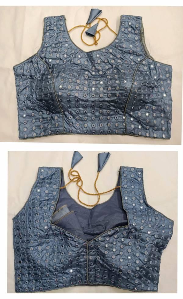 Ruhi Fashion Havey Tapta Silk Heavy Thread Zari  And Sequence Work And Mirror Hand Work Designer Blouse Collection