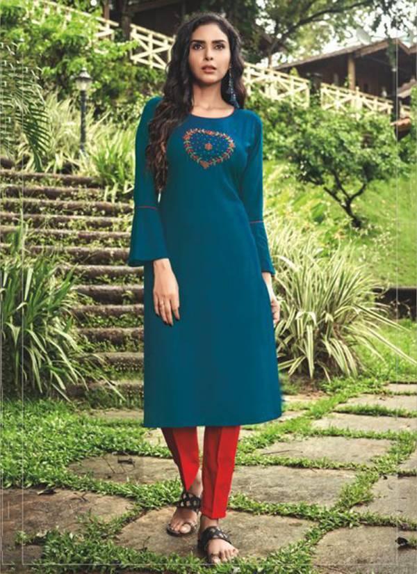 Shubh NX Poshak Vol 2 Series 1001-1010 Viscose With Designer Hand Work Daily Wear New Designer Kurtis Collection