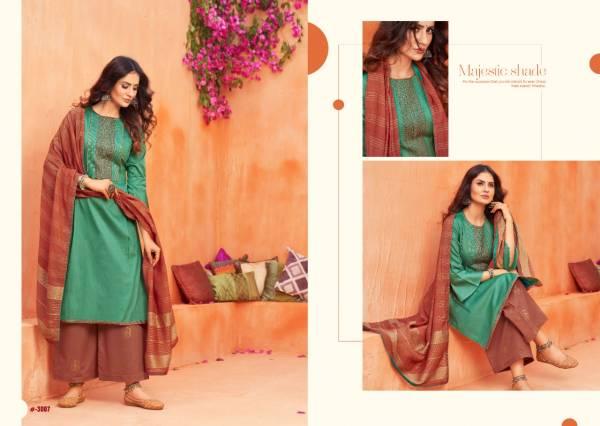 Sweety Fashion Bulandi Vol 3 Series 3001-3008 Jacquard Fancy Work Latest Designer Printed Palazzo Collection