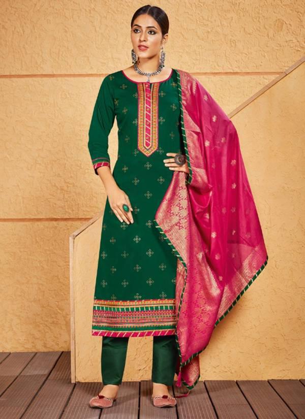 Kessi Kasturi Vol 3 Series 291-296 Jam Silk With Swarovski Diamond Work Stylish Look Fancy Suits Collection