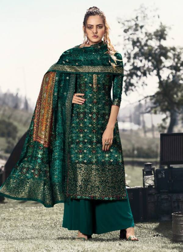 Glossy The Wild Series 252-259 Dola Jacquard Digital Printed Designer Fancy Casual Wear Salwar Suits collection