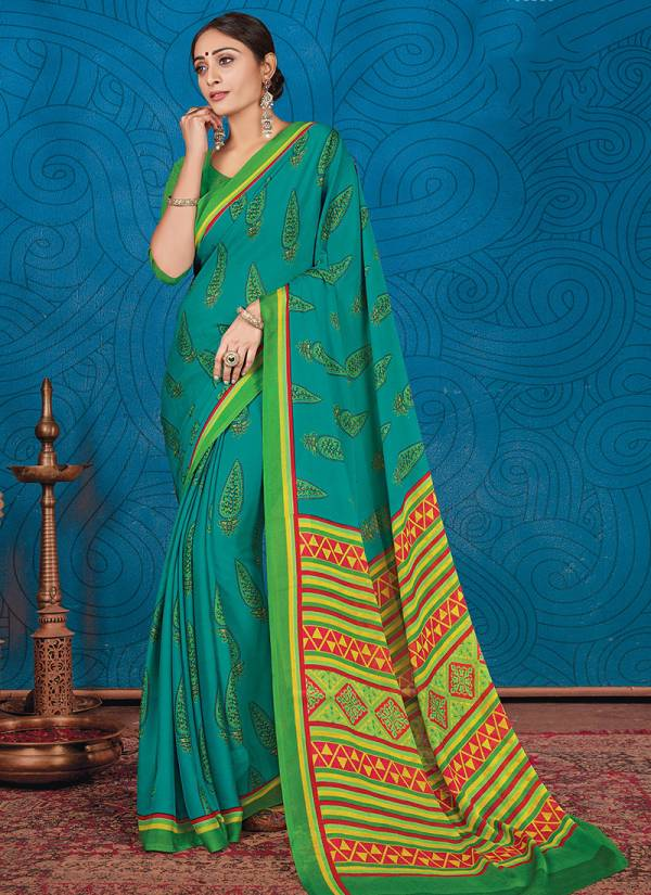 Ishika Khushi Series 01Khushi-06Khushi Crepe Fancy Printed Casual Wear Sarees Collection