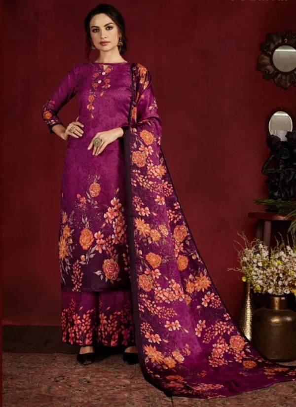 Winter 470-001 - 470-010 Pashmina Digital Style Print Regular wear Suits Collection